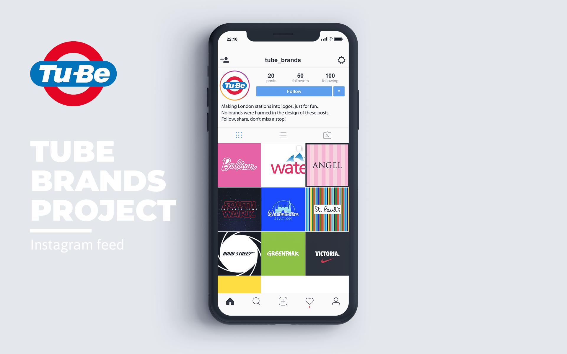 Tube brands Instagram feed